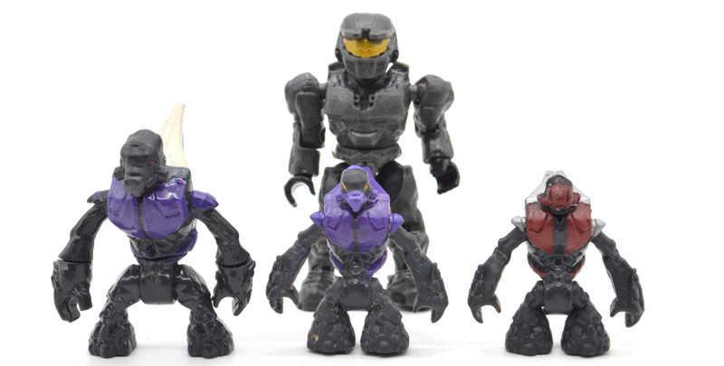 Single Sale Halo Building Blocks with Guns Monsters Humans Warriors  Spartans Wars Games Covenants Bricks Kids Toys