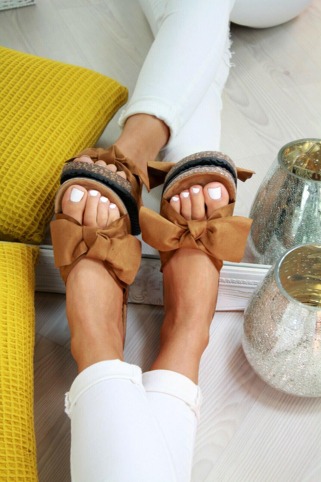 2020 chaussures femme sandales pour femmes chaussures de plage Bow sans lacet gladiateur sandales femmes chaussures d'été sandales plates femme grande taille 9