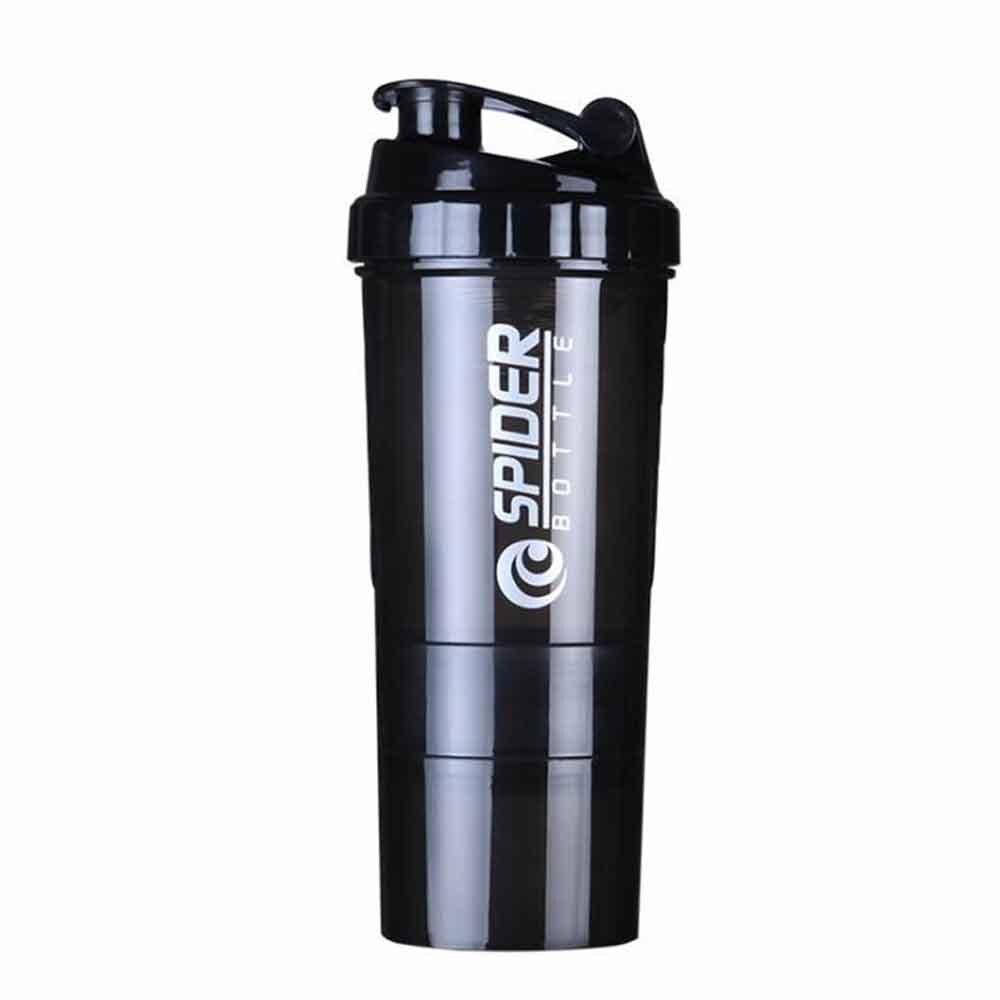Heißer 3 kombination whey protein pulver flasche für wasser shaker flasche für protein mezclador proteina Sport Vibrator Wasser Flasche