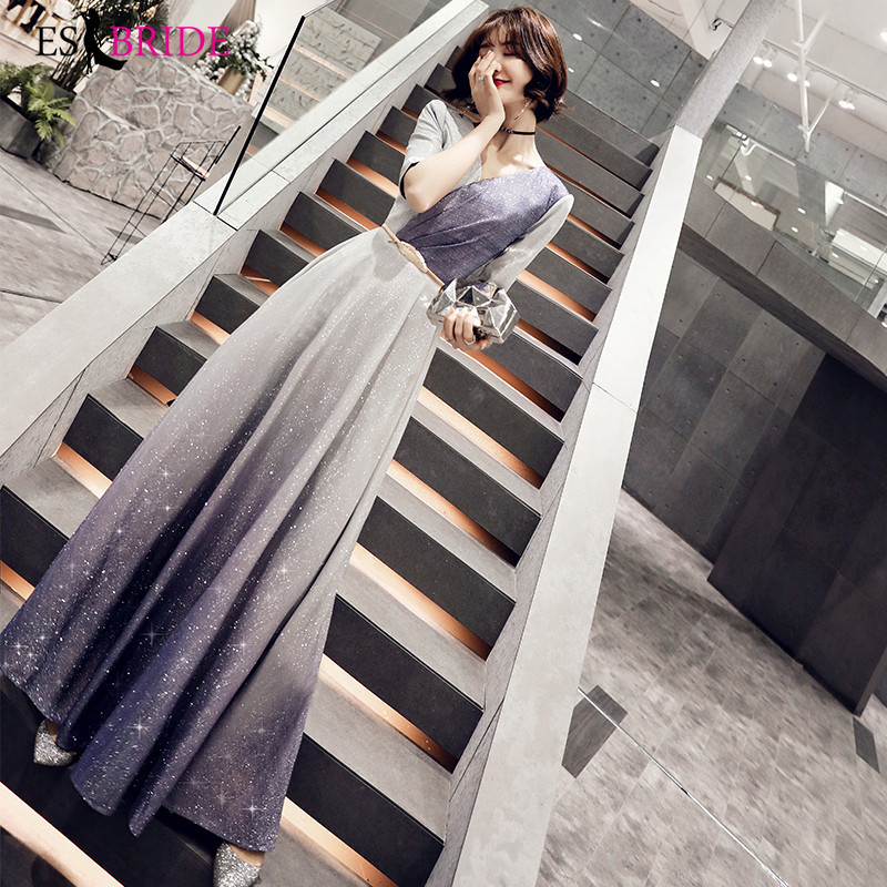 Royal Blue Special Occasion Dresses Starry Sky Evening Dresses Long V-neck Evening Dress Formal Dress Women Elegant ES2495