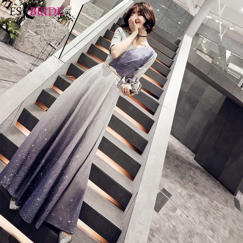 Royal Blue Special Occasion   Dresses   Starry Sky   Evening     Dresses   Long V-neck   Evening     Dress   Formal   Dress   Women Elegant ES2495