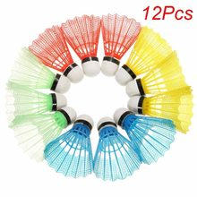 12 Pcs High Quality Badminton Balls Colorful Portable Shuttlecocks Game Supplies relefree Hot(China)