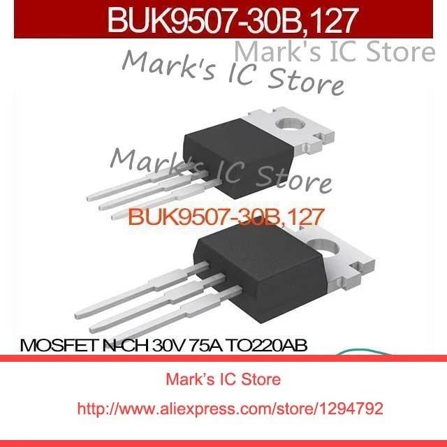 2PCS BUK9507-30B,127 MOSFET N-CH 30V 75A TO220AB BUK9507-30B 9507 BUK9507