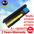 Wholesale New 9cells laptop battery FORThinkPad  X200 201 Series  43R9253 42T4534 42T4535 42t4543 42T4650 42T4834  free shipping
