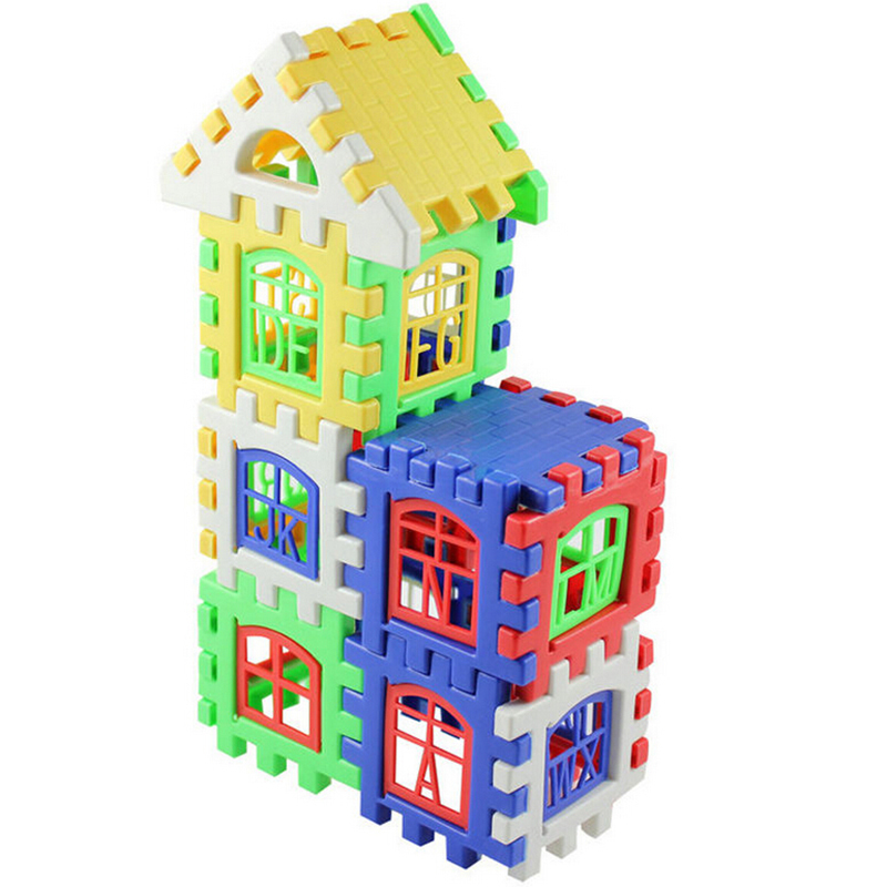 Aliexpress Com Buy Home Utility Gift Birthday Gift: 24Pcs/Set Colorful House Building Puzzles Children Letters