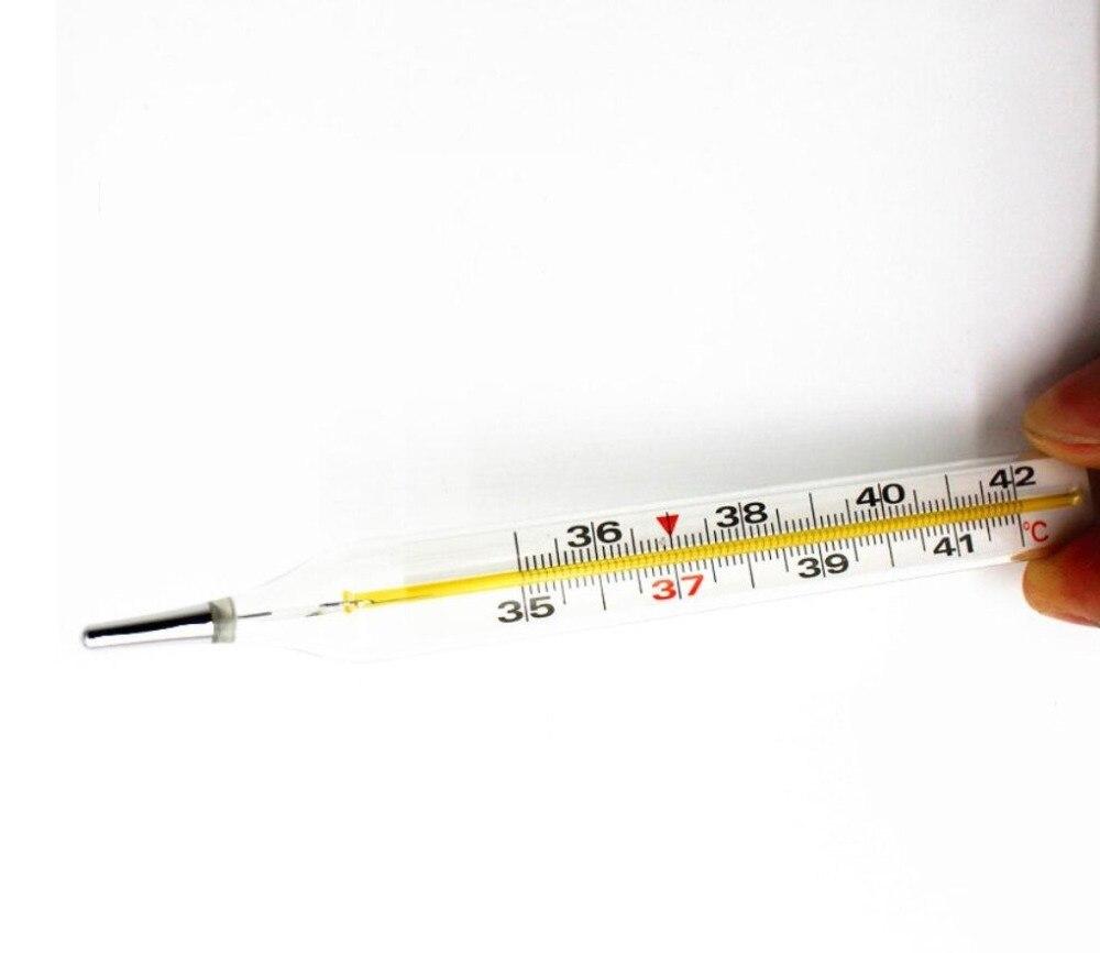 6 stücke Klinische Achselhöhle Mercurial Thermometer Körper Temperatur Messgerät Medizinische Verwenden Klassische Glas Quecksilber Thermometer