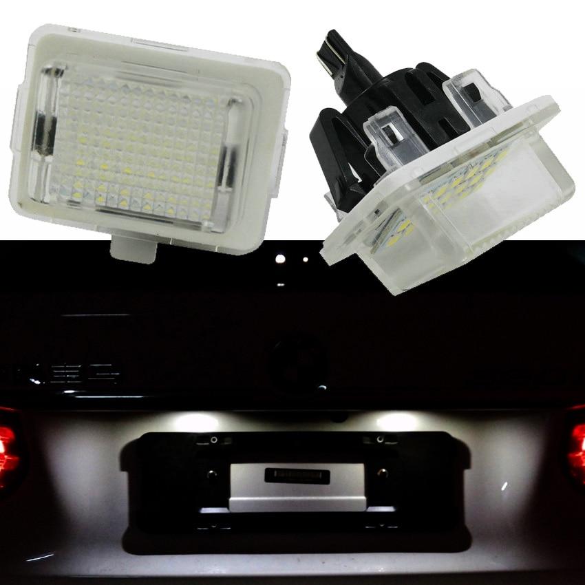 2шт LED автомобилей фонарь освещения номерного знака сборка лампы освещения номерного знака для Benz A207 кабриолет Е250 Е300 Е350 E550 для w204 w212 Мерседес W216 W221 Мерседес
