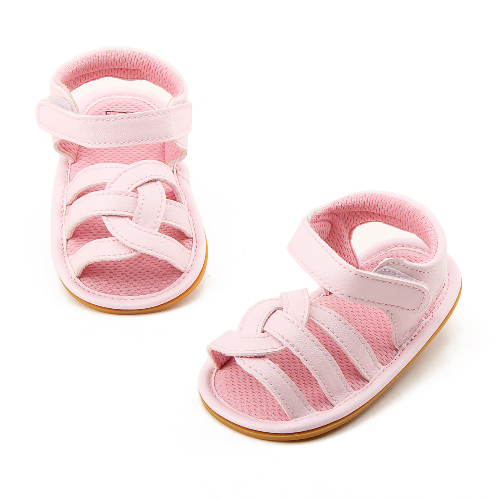 PU Leather Baby Girl Baby Moccasins Soft Moccs Shoes Soft Sole Pink EVA Bottom Shoes Walkers Fashion Sole Cross Step Shoes
