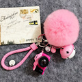 Mini Simulation Luminous Sound Camera Hair Ball Key Buckle Lovely Female Bag Key Chain Car Hanging