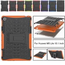 Case for Huawei MediaPad M5 Lite 10'' BAH2-L09/W19/W09 10.1rugged case Heavy Duty 2 in 1 Hybrid Durable Funda Tablet Shell case for huawei mediapad m5 lite 10 bah2 w09 l09 w19 10 1 smart cover funda tablet ultra slim folding skin stand shell film pen