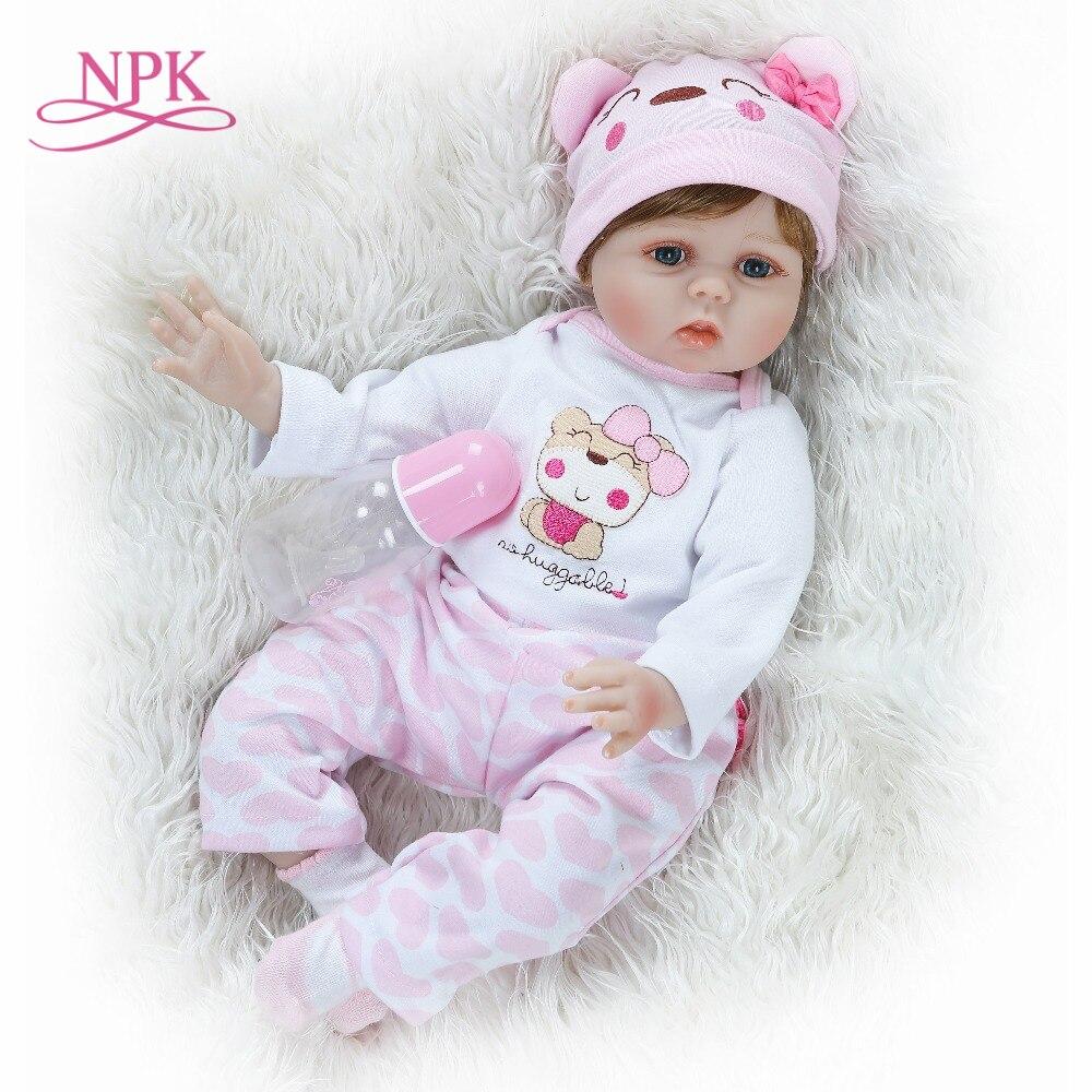 NPK 55 cm Silikon Rebron Baby Puppen Neugeborenen Baby Realistische Prinzessin Kinder Spielkameraden Baby Reborn Mode DIY Spielzeug