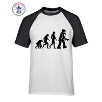 2017 T Shirts Robot Evolution New Arrive Funny T Shirt For Men