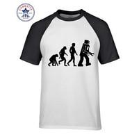 2017 T Shirts Robot Evolution New Arrive Funny T Shirt For Men