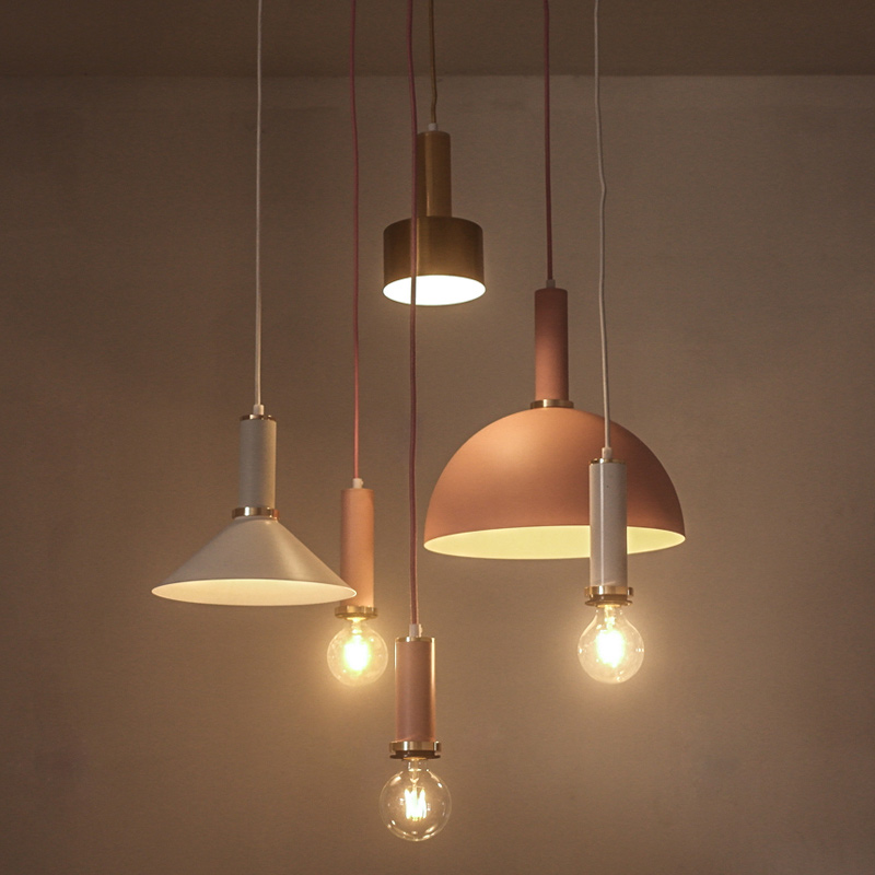 Nordic Industrial Wind Loft Modern pendant light Dining Room Led Single Head Small Bulb Denmark Iron Hanging Lamp Iluminacion retro pendant lamp nordic industrial loft iron pipe pendant light hanging lamp decorative lighting e27 edison bulb 4 head wpl203