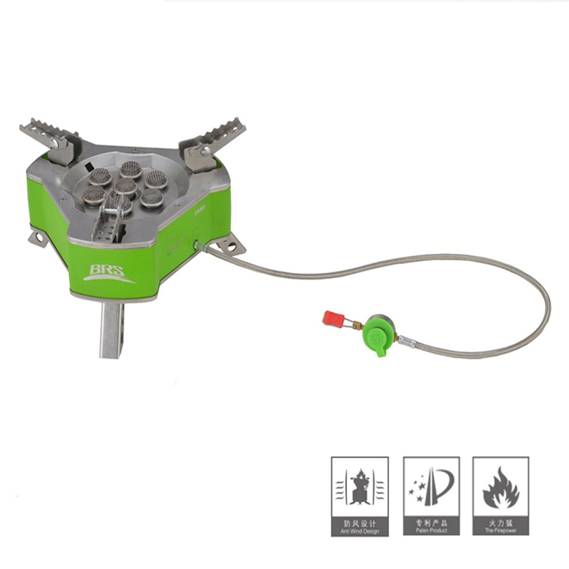 BRS Powerfully Outdoor Gas Burner Portable Camping Windproof Stove Butane Gas Furnance Camping Cooking Stove 9800W BRS-71 cutting machine desktop mini micro precision small table saw diy woodworking saws small cutting machine