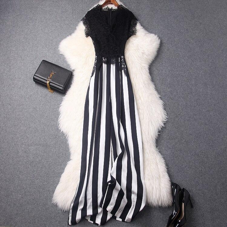 HA05054 Fashion Women Jumpsuit Luxury Brands Europe Designer meticulous layout Lady Jumpsuit 2018 Free Shipping Jumpsuit ...