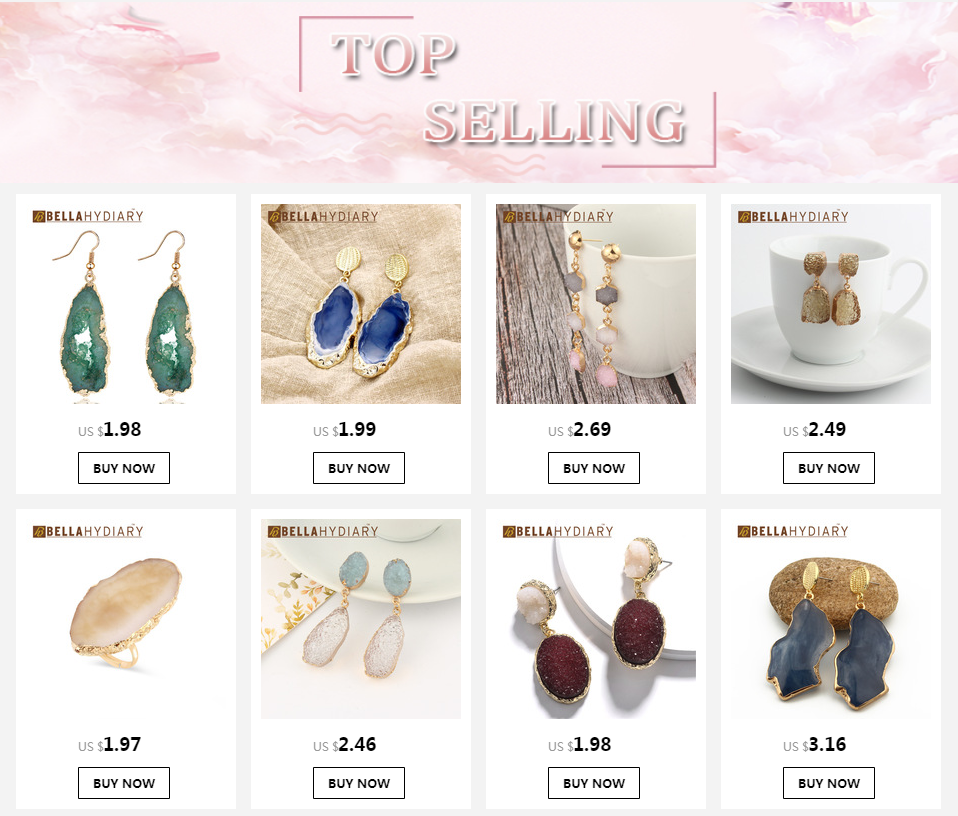 Korean Fancy Chic Stone Druzy Resin Earrings Long Drop Earrings For Women Jewelry Statement Gifts For Women Accessories Brinco 8