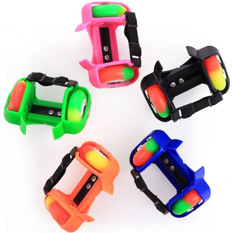 For Children Crystal PU Wheels Flashing Roller Small Whirlwind Pulley Flash Wheel Skate Shoes Roller Shoes