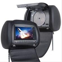 Coches Reproductor de DVD Reposacabezas Monitor USB FM Pantalla Digital Universal Del Coche de la cremallera Negro Juego de la TV IR Remoto Apoyo Ruso
