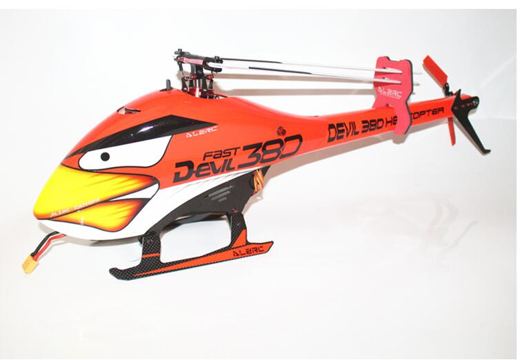 ALZRC - Devil 380 FAST FBL KIT Including 60A-V4 ESC  And 6S Brushless Motor 1000KV And Tail Belt Idler380 Airplane - Black - r b parker s the devil wins