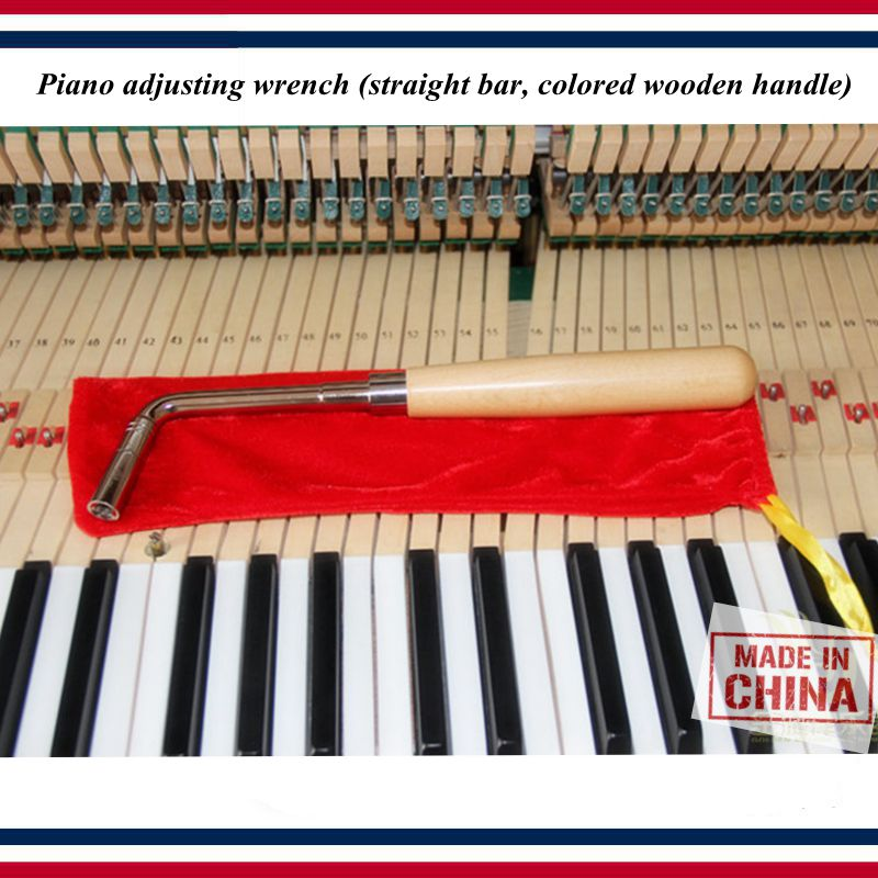 Piano tuning tools accessories Piano repair tool Piano adjusting wrench straight bar colored wooden handle