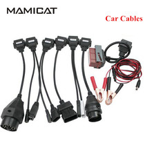 Free SHipping Cables For CDP Pro OBDII Cars Diagnostic Interface Tool For delphi Full set 8pcs