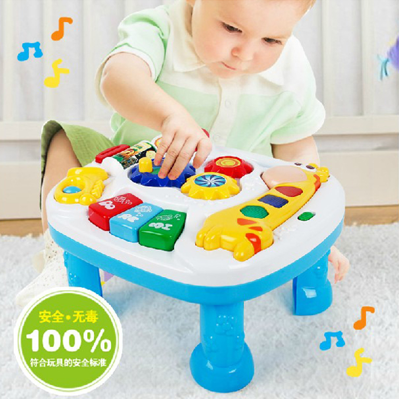 Baby Cribs United Free Shipping Musical Baby Crib Attachment Toy Activity Learning Table 2 In 1 Baby Bed Hanging Toys Soothe And Flashing Light