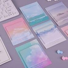Цветные облака, студенческий блокнот для заметок, планировщик, Стикеры для заметок, kawaii, канцелярские принадлежности, pepalaria, офисные школьные принадлежности, 30 страниц