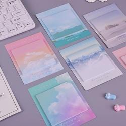 Цветной облака студент memo pad планировщик стикер для заметок кавайная наклейка pepalaria канцелярия; школьные принадлежности 30 страниц