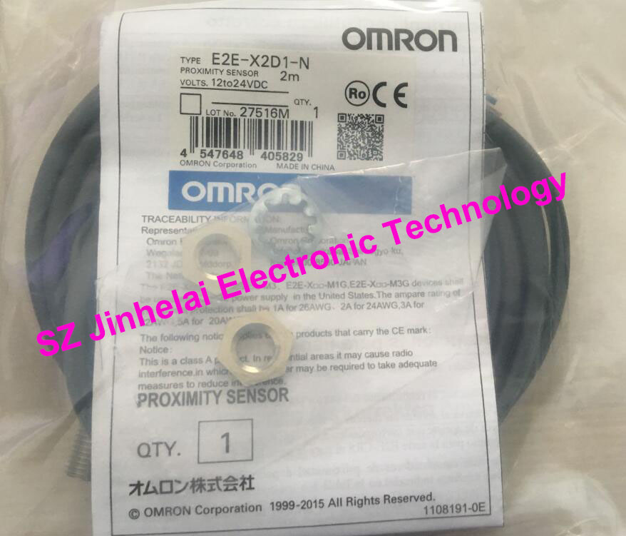 100% New and original  E2E-X2D1-N, E2E-X3D1-N   OMRON  Proximity sensor,Proximity switch, 12-24VDC  2M [zob] new original omron shanghai omron proximity switch e2e x18me1 2m 2pcs lot