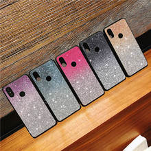 Gradient glitter Case For Huawei P10 P20 Lite Pro Cases Honor 8 9 Lite V9 V10 10 7X 8X 8C Play Y5 Y6 Y9 2018 2019 Back cover luxury fashion glitter shining cases for huawei y9 2019 y6 2018 y5 honor 8x 10 tpu phone back cover mate 20 lite case p20 pro 9