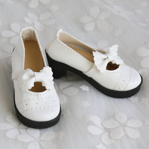 Doll Accessories Mini Cute Shoes 1/3 BJD Lolita Chunky Heel Bowknot Shoes 8cm PU Leather for 1/3 BJD 60CM SD Doll Shoes for Girl Lahore