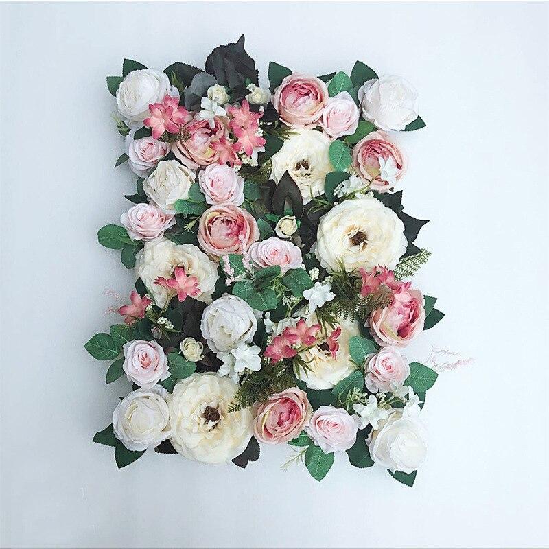 JAROWN Artificial Flower Row Simulation Rose Peony Hydrangea Background Wall Fake Flowers Wedding Feast Arrangement Props Flores (3)