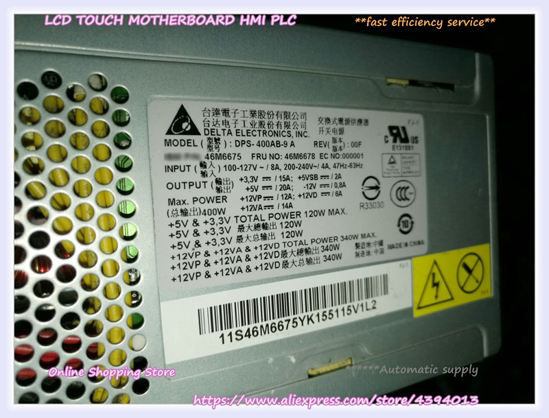 For X3200 M3 Server Power Supply DPS-400AB-9 A 46M6678 46M6675For X3200 M3 Server Power Supply DPS-400AB-9 A 46M6678 46M6675
