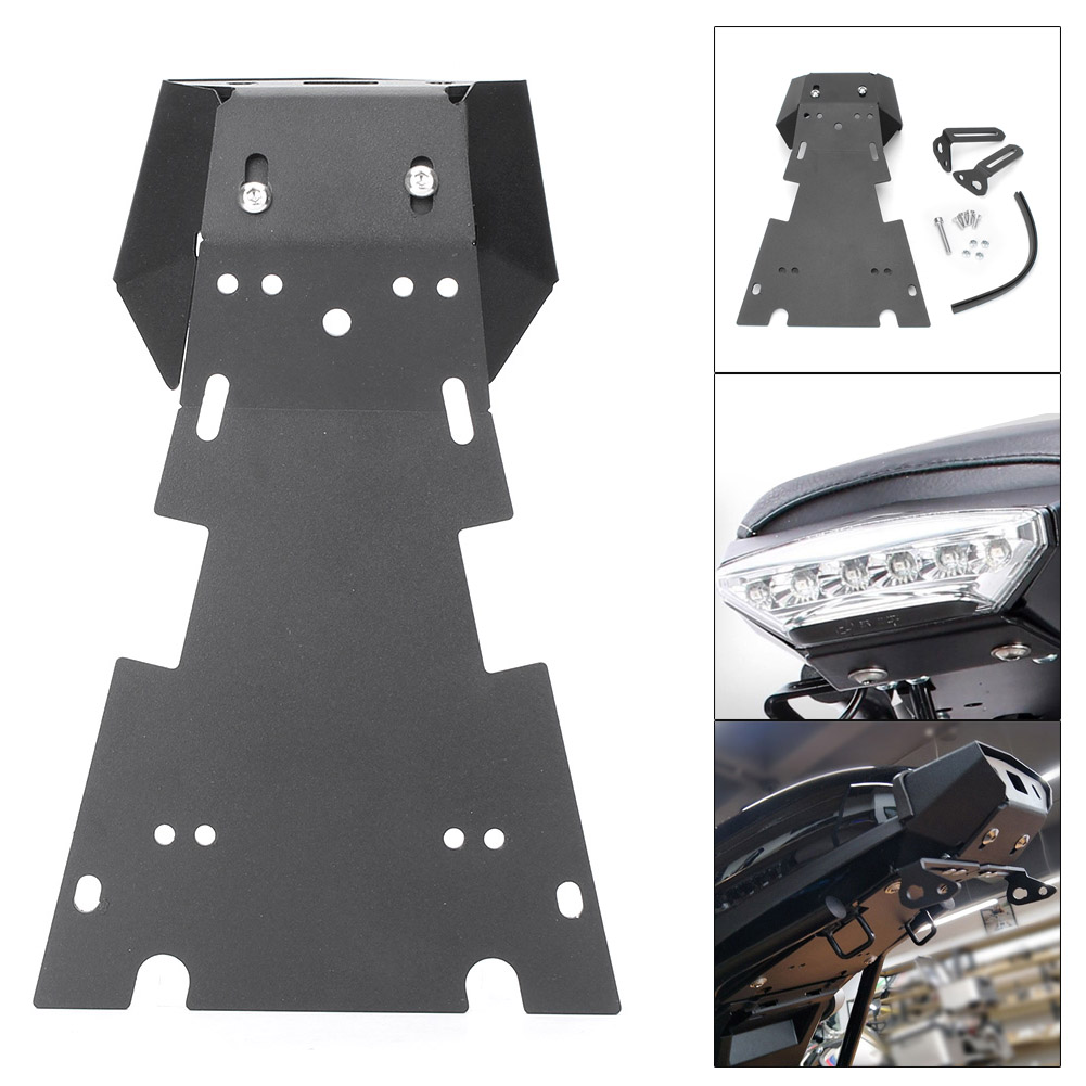 For BMW R NINE T Tail Mount License Plate Bracket w/ Brake Rear Lamp Taillight 2015 2016 2017 Steel Alloy Motorcycle Accessories