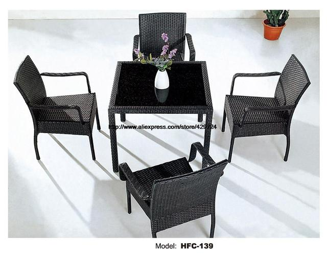 Classic Outdoor Chair Coffee Table Leisure Rattan Garden Set Hot - Coffee table with 4 chairs