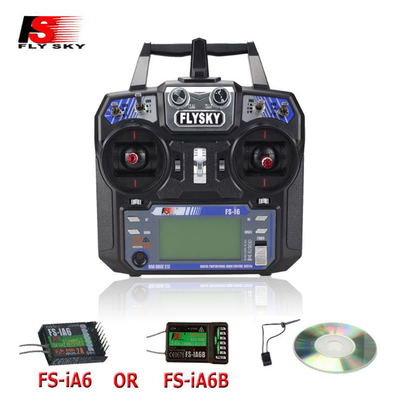Flysky FS-i6 FS I6 2.4G 6ch RC Transmitter Controller FS-iA6 or FS-iA6B Receiver For RC Helicopter Plane Quadcopter Glider drone flysky fs i6 2 4g 6ch rc transmitter controller with fs ia6 receiver system lcd screen for rc helicopter plane quadcopter