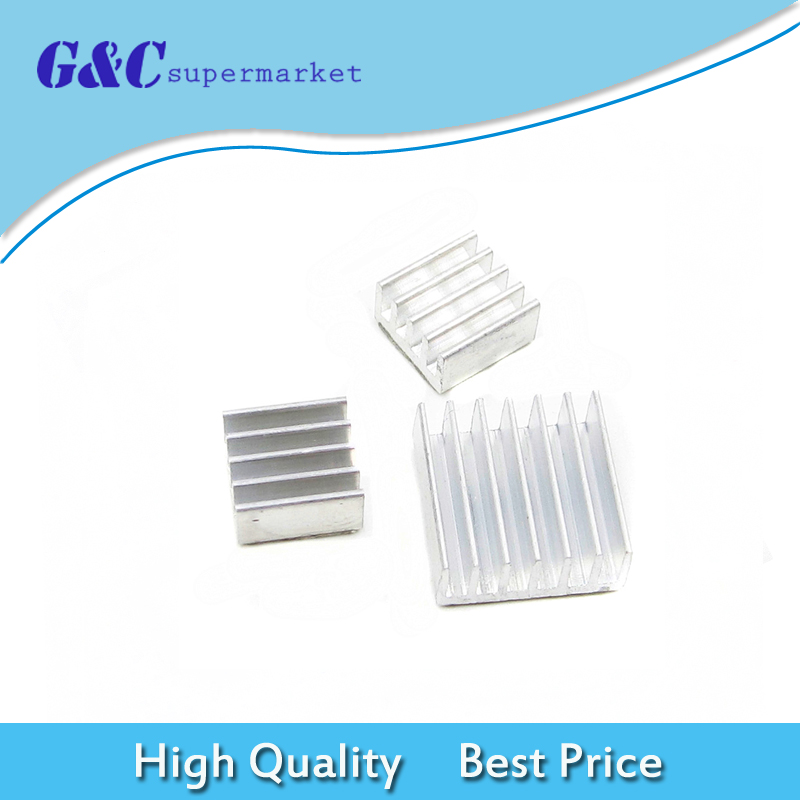 3PCS One Set Aluminum Heatsink Cooler Adhesive Kit for Cooling Raspberry Pi ...