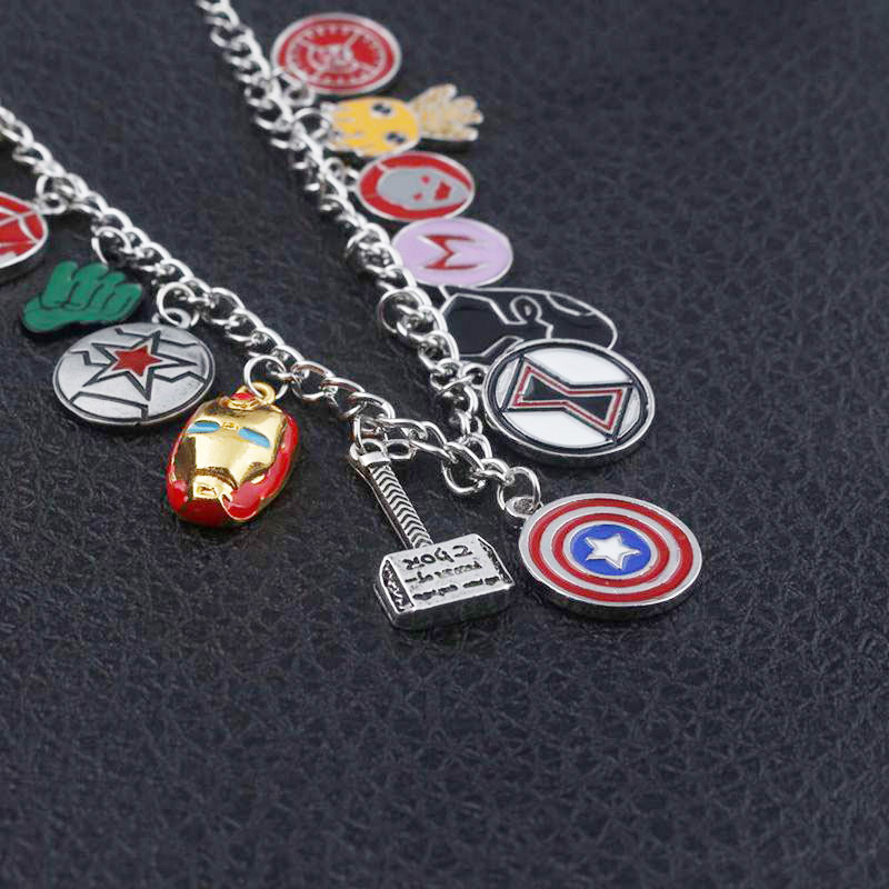 Rj Hot Avengers Infinity War Bracelets Thanos Black Panther Venom Thor Hammer Eye Of Agamotto Charms Girls Bangles Jewelry Gift