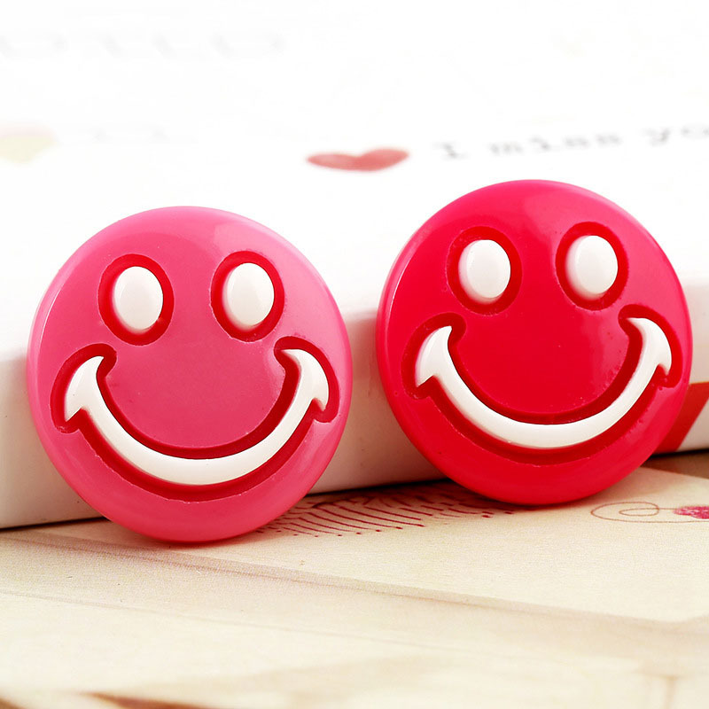 Rushed Hildren Cartoon Smiley Hairpin Decor Multic...
