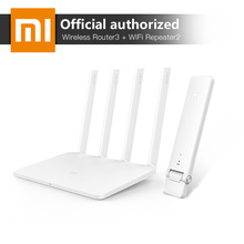 Xiaomi MI WiFi Wireless Router 3 867Mbps WiFi Repeater 4 Antennas 2.4G/5GHz 128MB ROM Dual Band APP Control + Mi WiFi Repeater