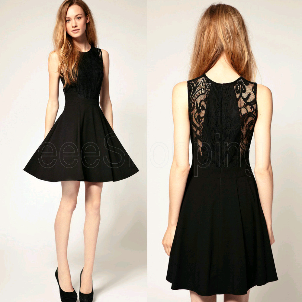 Casual Black Dress Evening