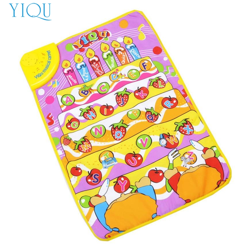 YIQU Touch Play Keyboard Musical Music Singing Carpet Mat Kids Baby Toy Gift Dec27