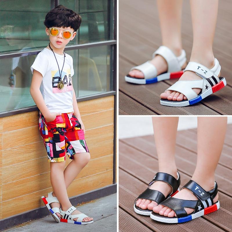 2018 bērnu sandales zēni un meitenes no dabīgām ādas - Bērnu apavi