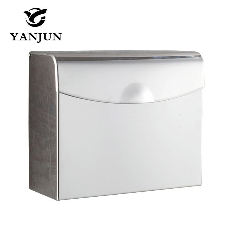 ФОТО Toilet Paper Box Tissue  Holder Bathroom Accessories Stainless Steel Square Paper Holder Furniture Hardware  Yanjun YJ-8603