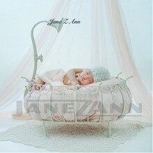 Джейн Z Ann новорожденных Подставки для фотографий Утюг принцесса кровать корзина Fotografia аксессуары для студийной съемки реквизит для фотосессии