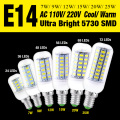 5730SMD E14 24/36/48/56/69/72 leds LED Lamps Corn Bulb AC110V Cool Warm White For Festival Candle Lighting