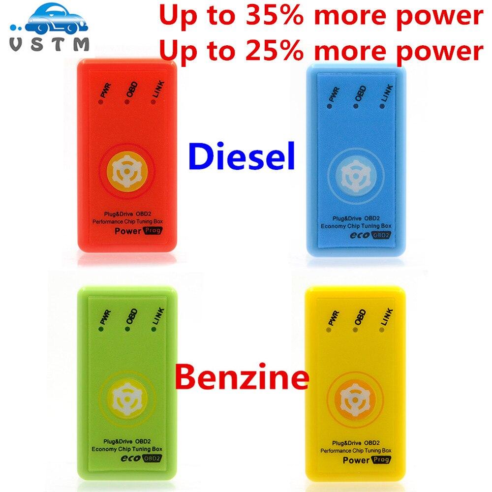 Caja de sintonización de Chip para diésel, para coches de bencina Powerprog, mejor que Nitroobd2 y ECOOBD2 Nitro OBD2 CNP