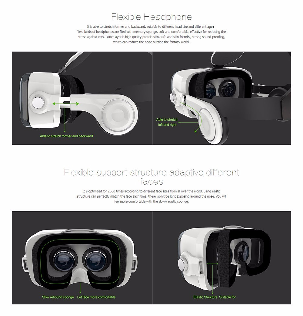 Virtual Reality Google Cardboard VR BOX Original bobovr Z4/ Z4 Mini 3D glasses+Bluetooth Controller for 4-6' Smart Mobile Phone 19