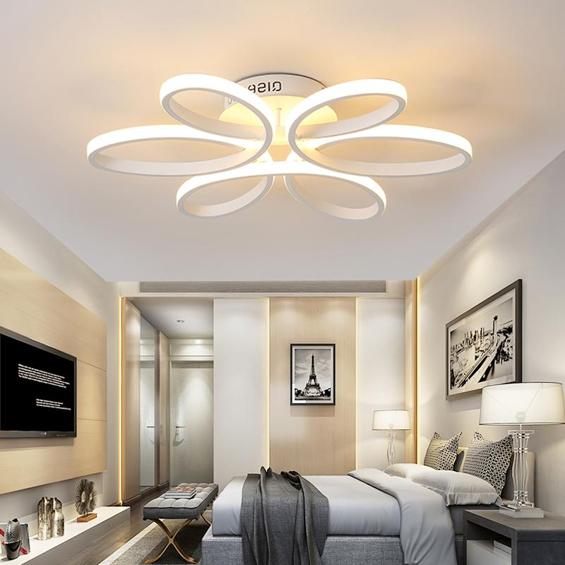 Acrylic LED Ceiling Lighting Remote Control Flower Flush Mount LED Lighting Fixture for Living Dining Room Bed Room Decoration